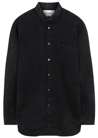 SS17 Linen Generation Shirt in Distressed Charcoal