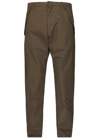 SS17 P24-S HD Gabardine Articulated Trousers in Green