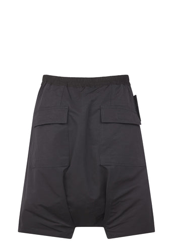 SS17 Cotton Nylon Memphis Pod Short in Black