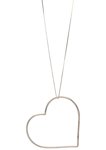 SS17 Classic Big Heart Necklace in Rose Gold