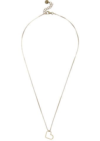 SS17 Classic Small Heart Necklace in Gold