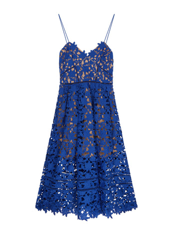 Azaelea Dress in Cobalt