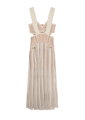 Avery Midi Dress in Cream