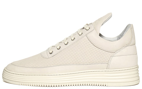 SS17 Low Top Perforated Sneakers in Beige