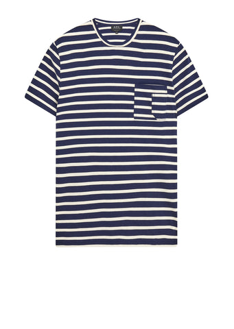 AW17 Construction Stripe T-Shirt in Navy