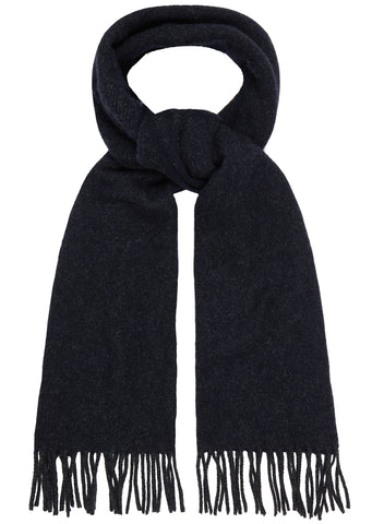 AW17 Adrien Wool Flannel Scarf in Navy