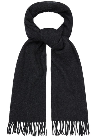 AW17 Adrien Wool Flannel Scarf in Charcoal