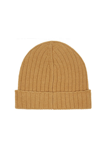 AW17 Bear Knit Beanie in Camel