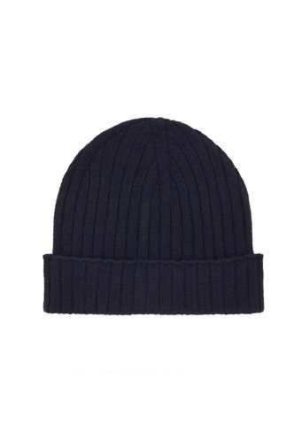 AW17 Bear Knit Beanie in Navy