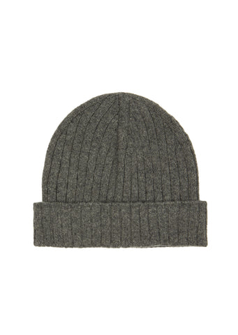 AW17 Bear Knit Beanie in Heather Grey