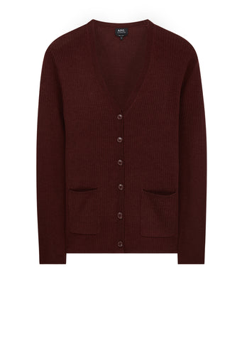 AW17 Fay Cardigan in Burgundy