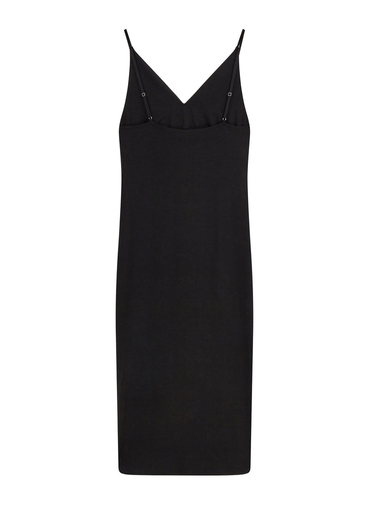 AW17 Shirred Front Sleeveless Dress in Black