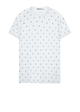 AW17 Poka Dot Crew Neck Tee in White