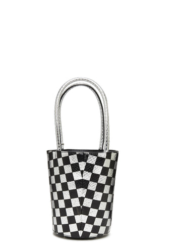 Roxy Mini Bucket Checkerboard in Black/White