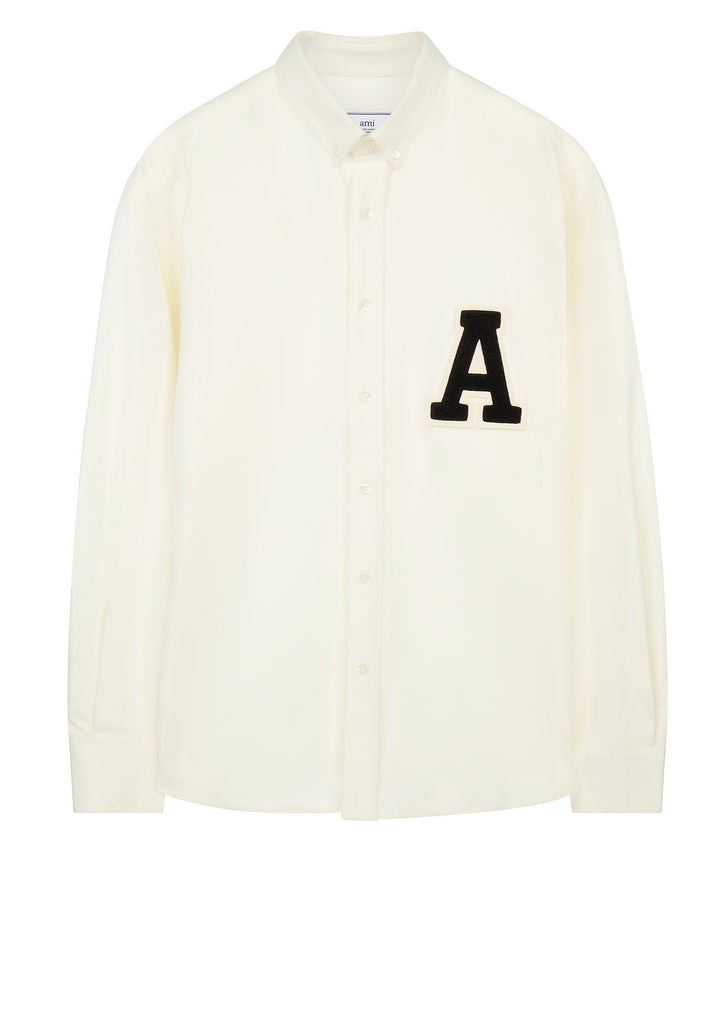 AW17 'A' Patch Shirt in White