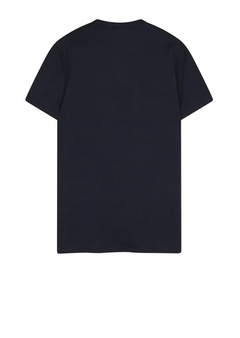AW17 Overlap Tee in Bright Navy