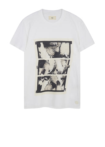 AW17 Shadow Print Tee in Ecru