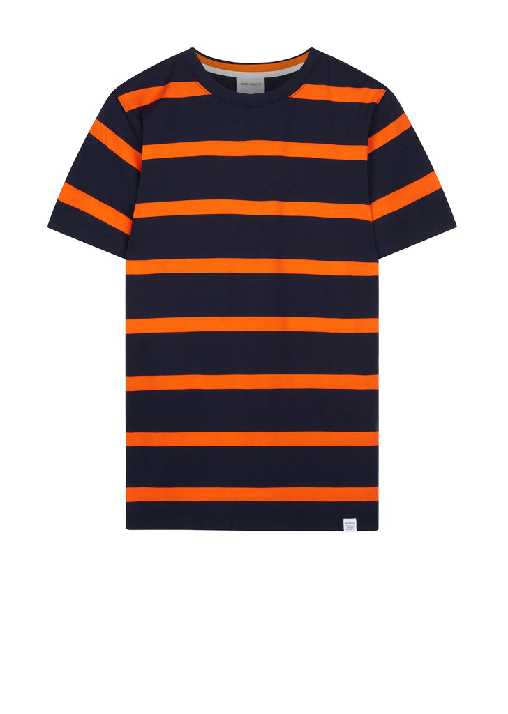 AW17 Niels Industrial Stripe T-shirt in Navy