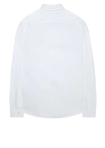 AW17 Garment Dyed Slim Fit Poplin Shirt in White