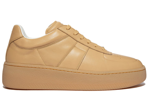AW17 Calfskin low Top Sneakers in Tan