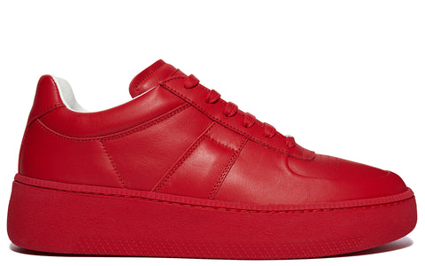 AW17  Calfskin low Top Sneakers in Red