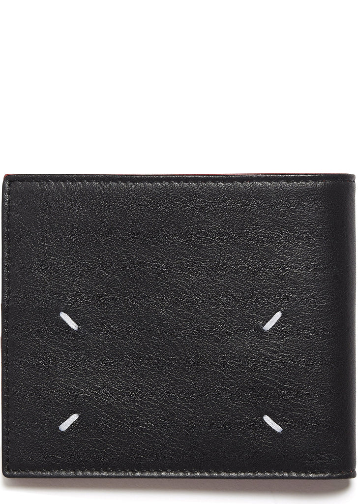Leather Billfold Wallet in Black