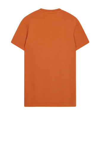AW17 Garment Dyed Compass Tee in Orange