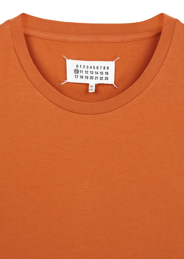 Garment Dyed Compass Tee in Orange