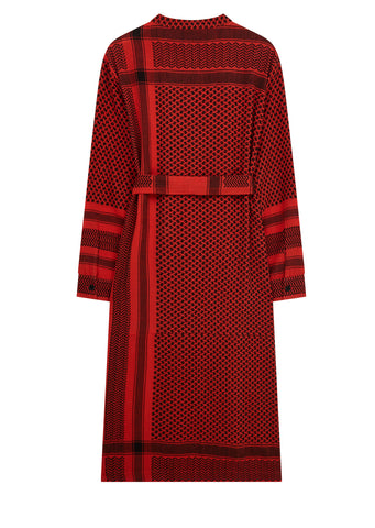 AW17 Long Shirt Dress in Red