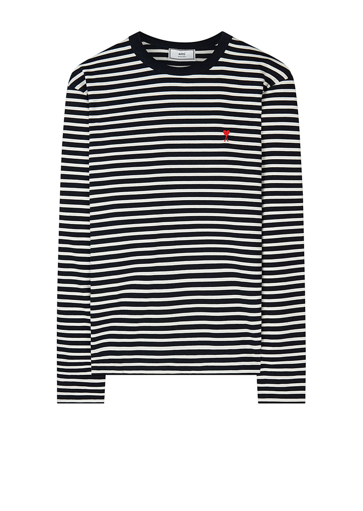 AW17 Striped Long Sleeve T-Shirt in Navy and White