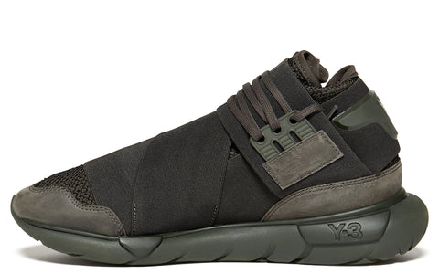 AW17 Qasa Knit Insert Hi in Black Olive