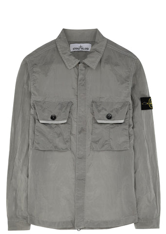 SS17 Nylon Metal Overshirt in Grey