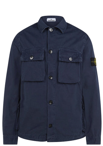 SI House Check Long Sleeve Shirt in Aviation Blue