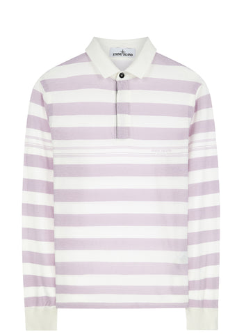 SS17 Marina Stripe Polo Shirt in White
