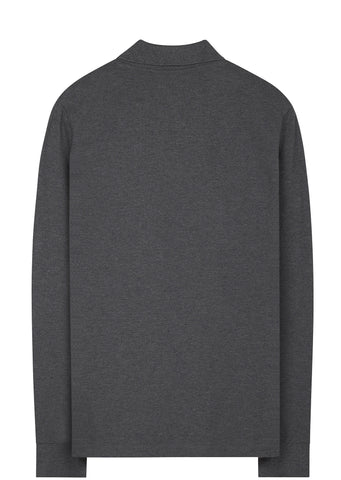 SS17 Long Sleeve Polo Shirt in Dark Grey