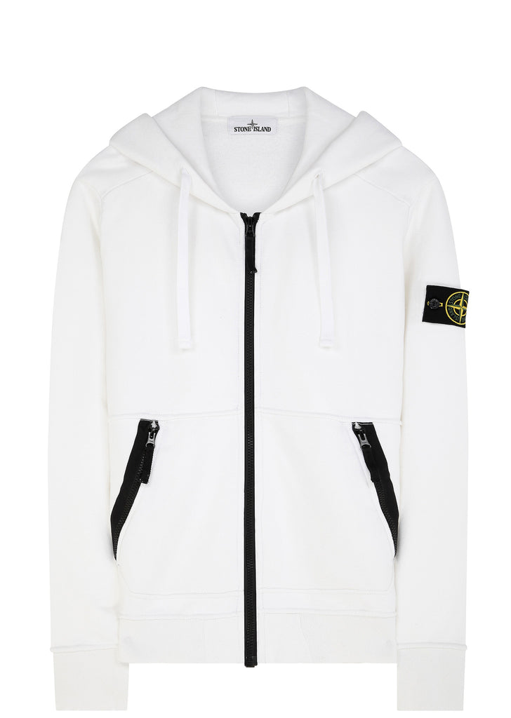 SS17 Hooded Full Zip Sweatshirt in White