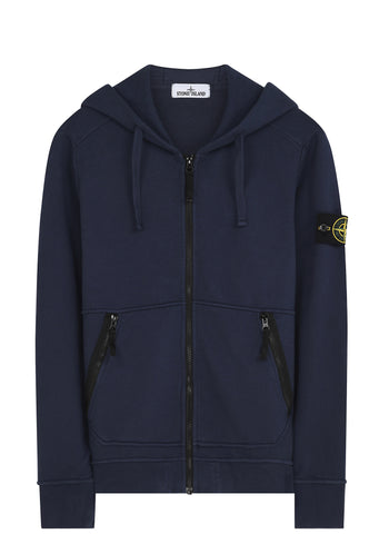 SS17 Hooded Full Zip Sweatshirt in Blue