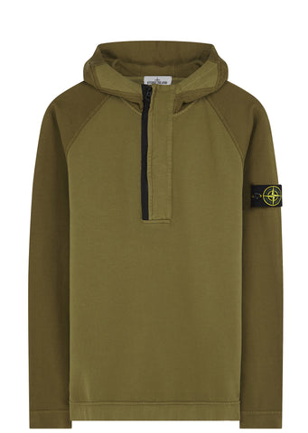 SS17 Hooded Full Zip Sweatshirt in Khaki