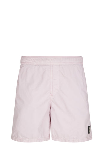 SS17 Nylon Metal Coloured Weft Swim Shorts in Onion Pink