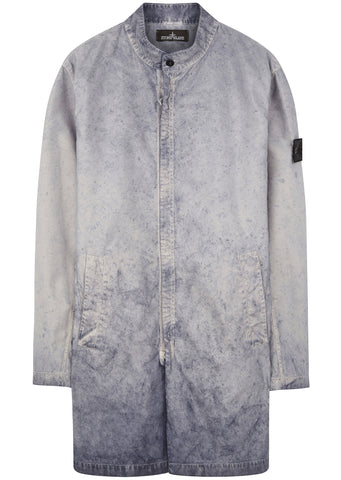 SS17 TPX Polyester Car Coat in Grey