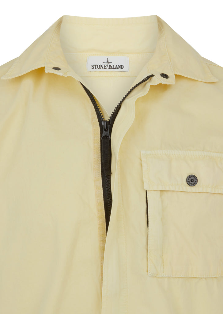 Old Effect Overshirt in Yellow