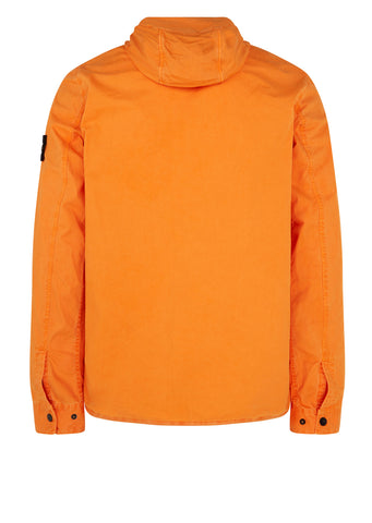 AW17 Old Effect Hooded Overshirt in Orange