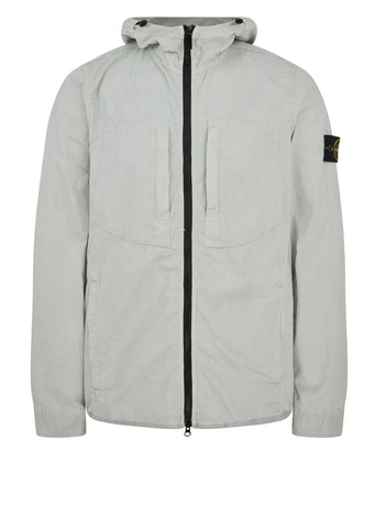 AW17 Old Effect Hooded Overshirt in Fog