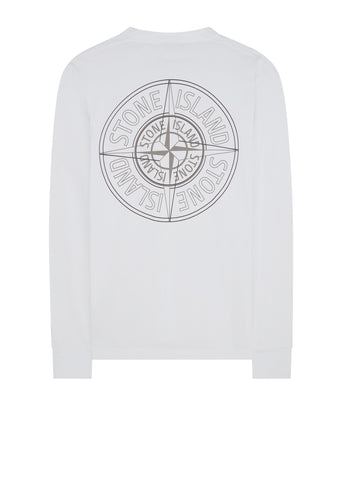 AW17 Reflective Compass Long Sleeve T-Shirt in White