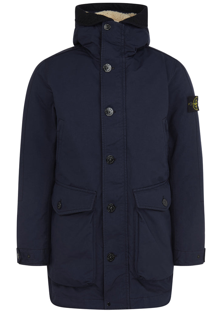 David TC Down Parka in Marine Blue