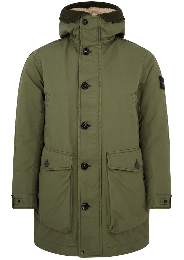 AW17 David TC Down Parka in Musk Green