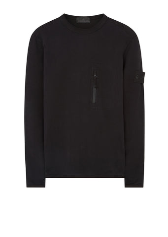 AW17 Ghost Piece Crew Neck Sweatshirt in Black