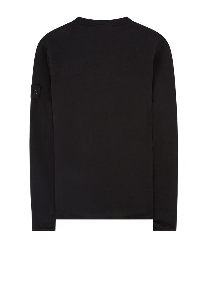 Ghost Piece Crew Neck Sweatshirt in Black