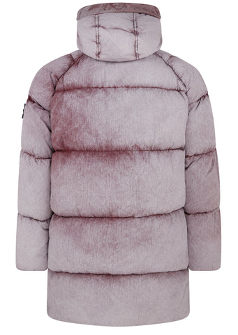 AW17 Tela Nylon Down Jacket with Frost Finish in Dusty Pink