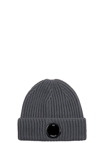 AW17 Ribbed Merino Wool Beanie in Charcoal